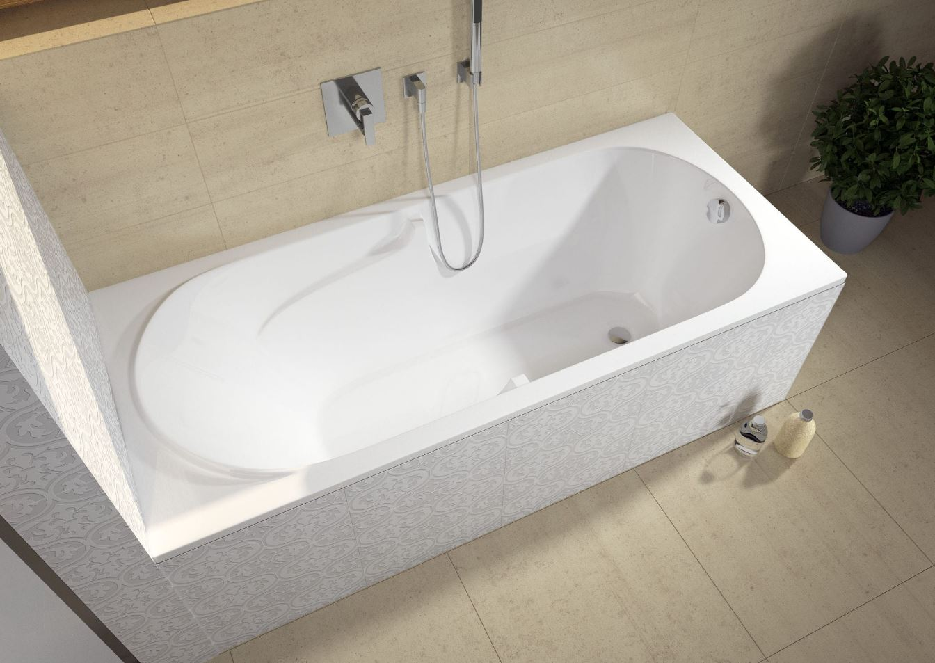 Vana riho future bc31 180 x 80 cm az koupelny - Lucidare vasca da bagno vetroresina ...